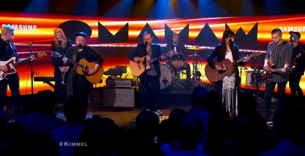 Colin Hay played with Of Monsters And Men at Jimmy Kimmel