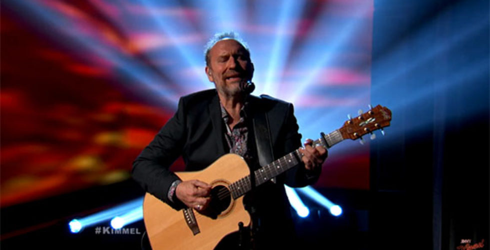 Colin Hay played a song from his latest album on Jimmy Kimmel